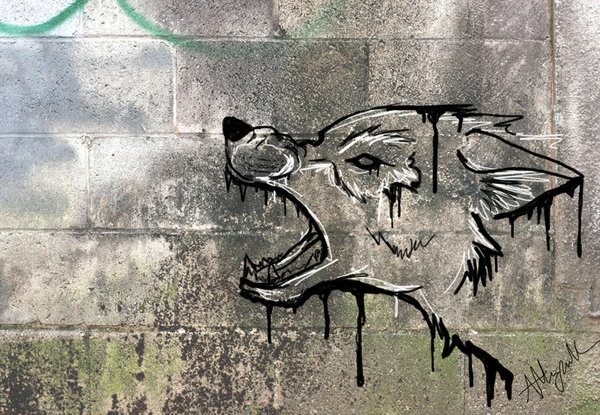 Drawn howling wolf silhouette On Snarl Graffiti by DeviantArt