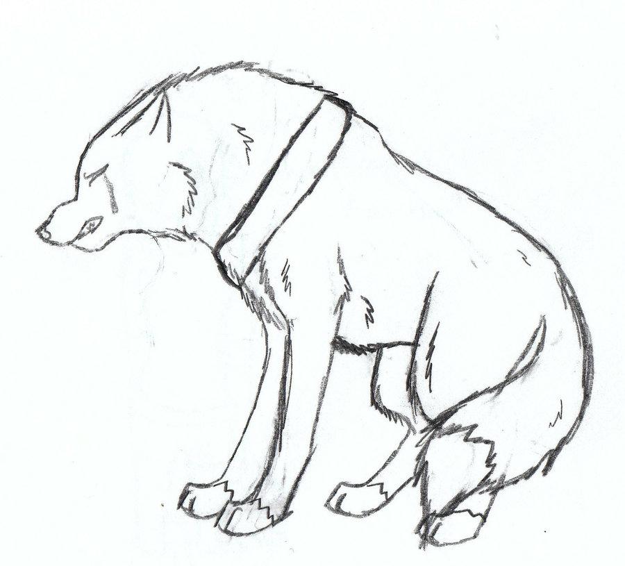 Drawn howling wolf tatoo Drawing Sad wolf photo#5 Drawing