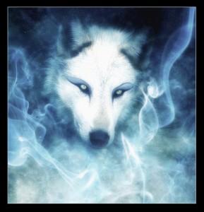 Drawn howling wolf spirit wolf  Wolf Spirit