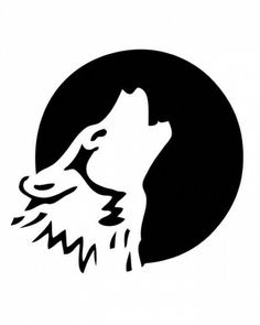 Drawn howling wolf stencil art This Find and With My