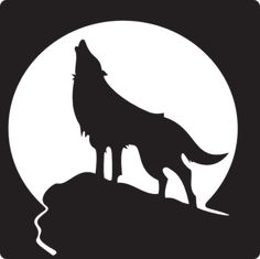 Drawn howling wolf stencil art This Find and Free page