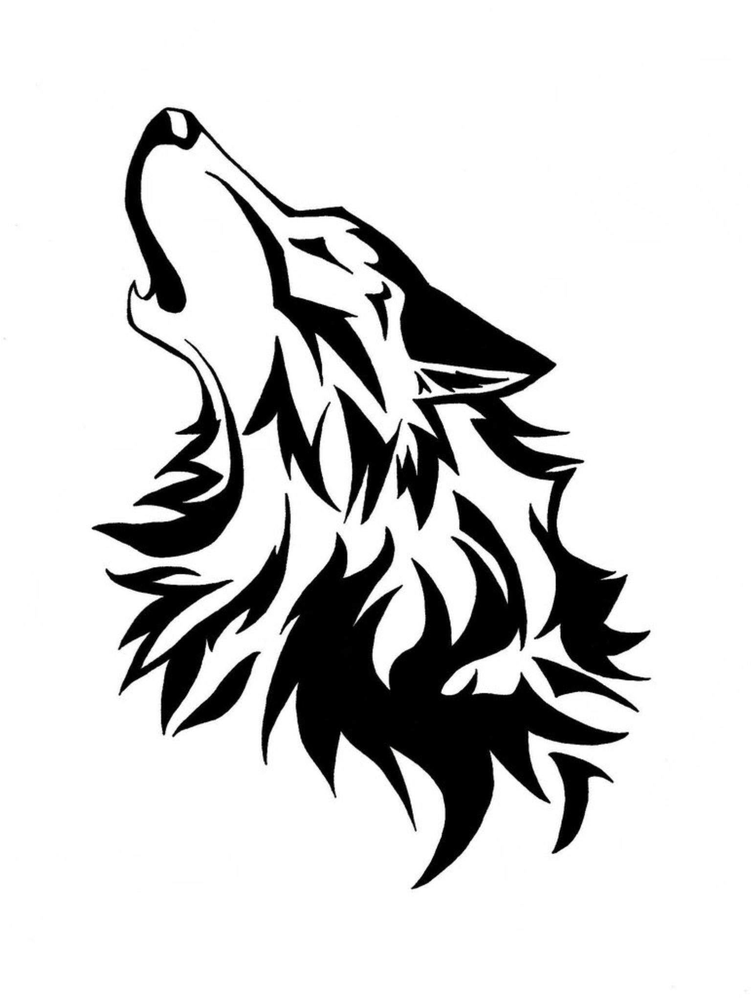 Drawn howling wolf tatoo By kinds Wolf Pin Milly