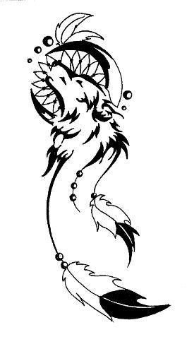 Drawn howling wolf the raven Tattoo not wolf  idea