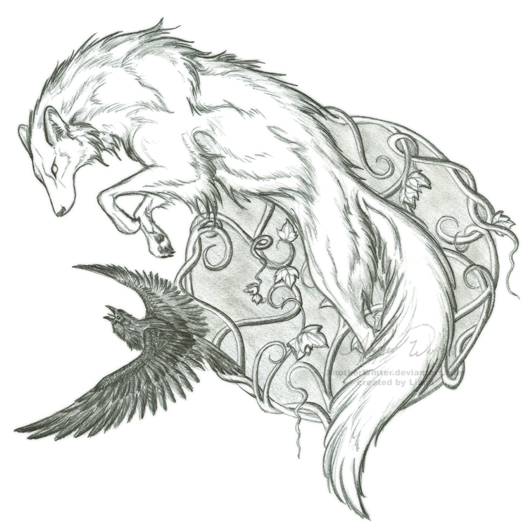 Drawn howling wolf the raven ~AnotherWinter deviantART by and ~AnotherWinter
