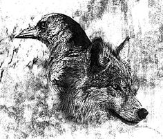Drawn howling wolf the raven Of shots Wolf on Tattoo