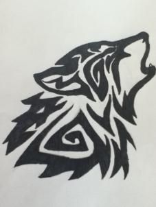 Drawn howling wolf tribal love Wolf Best ideas wolf tattoos