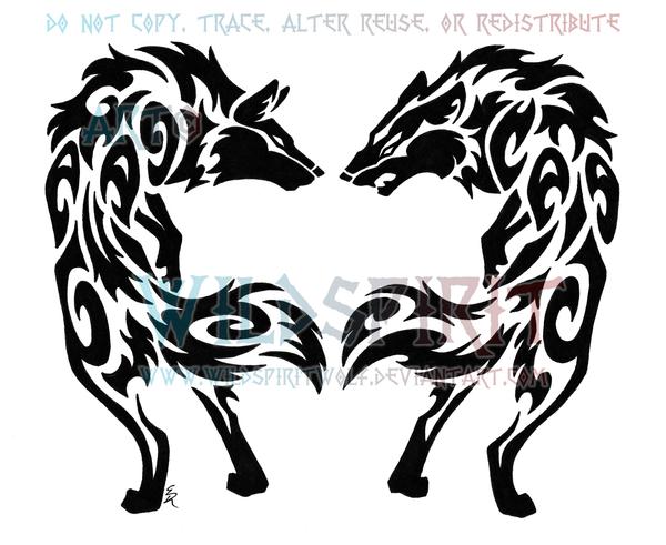 Drawn howling wolf tribal love By Hate WildSpiritWolf WildSpiritWolf by