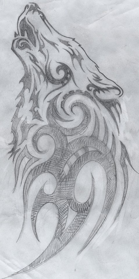 Drawn howling wolf realistic Wolf International Cuestix Elaine 2011