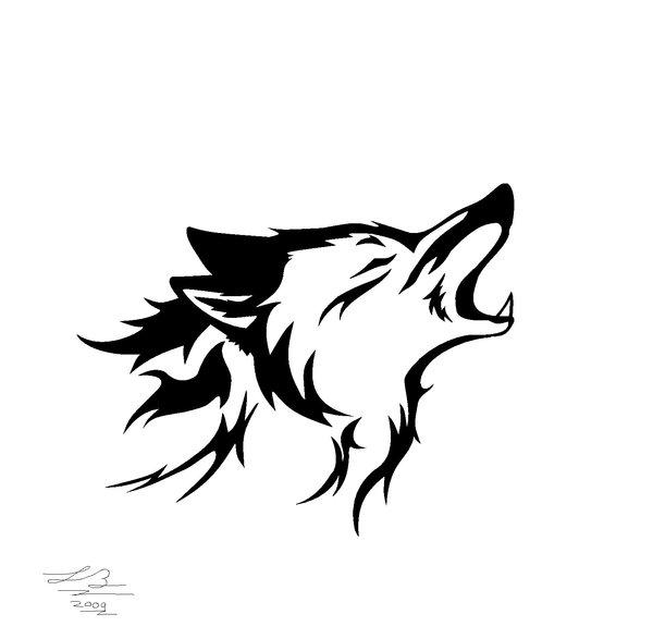 Drawn howling wolf tribal wolf Howl SilverWolf7444 Howl Wolf on