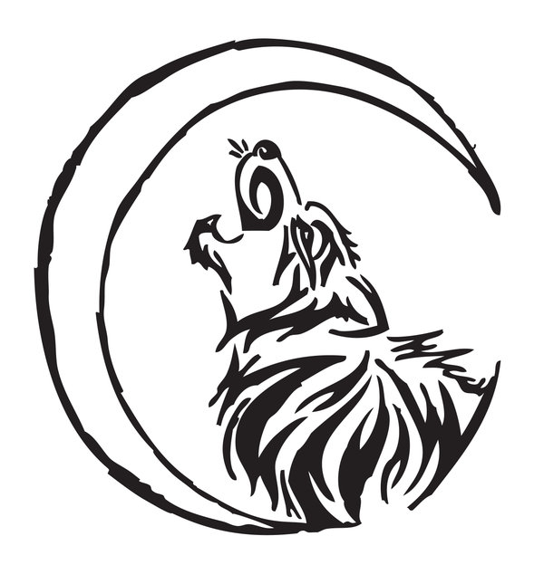 Drawn howling wolf tribal wolf Tribal SargassosArt Tribal Wolf on