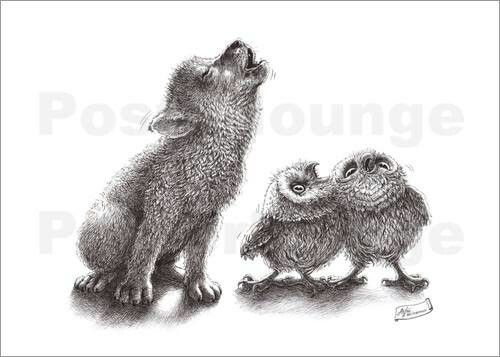 Drawn howling wolf wolf pup Best owl on : teaching