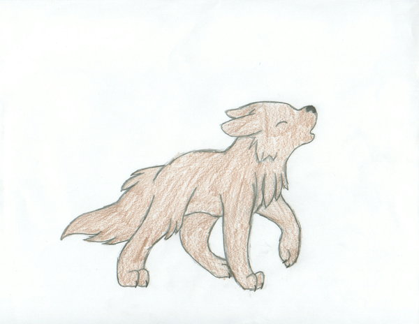 Drawn howling wolf wolf pup Draw a Pup How draw