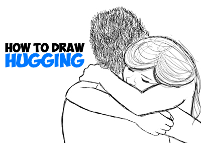 Drawn hug Draw to How Step Drawing