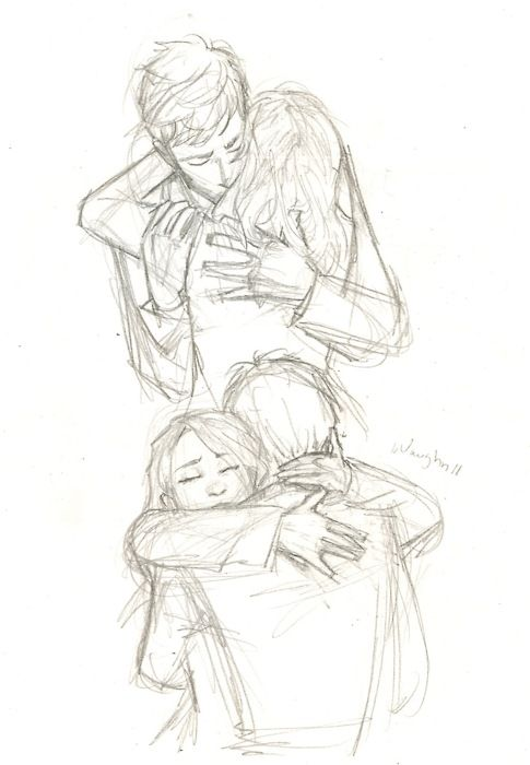 Drawn hug Pinterest on