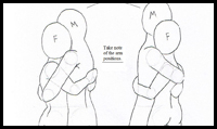 Drawn hug  Easy How to in