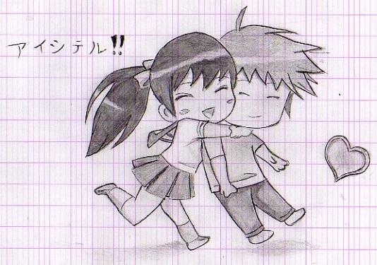Drawn hug DeviantArt Chibi 06hypersonic60 by by