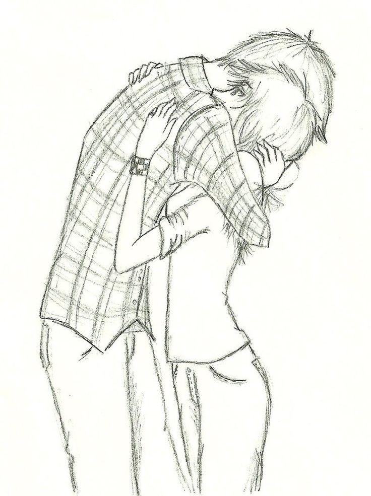 Drawn hug easy Pinterest The best Sketches Find