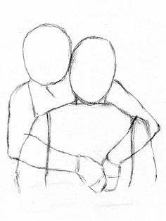 Drawn hug easy Let's People  drawing 2