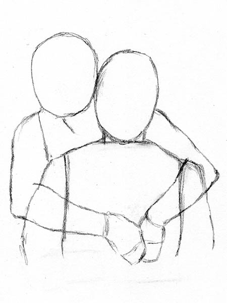 Drawn hug easy From the back how to
