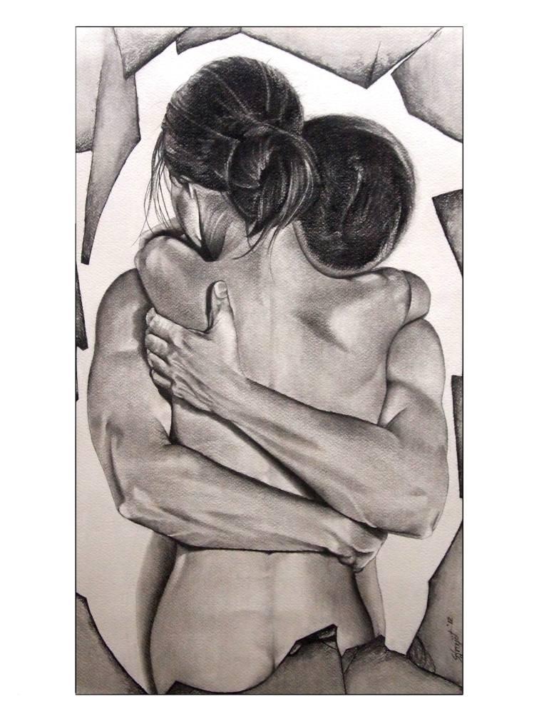 Drawn hug love Love art Saatchi Love and