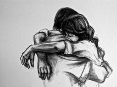 Drawn hug love  <3 love drawing pinturas