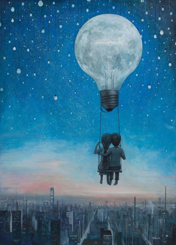 Drawn night sky cute On Pinterest by Hug Love