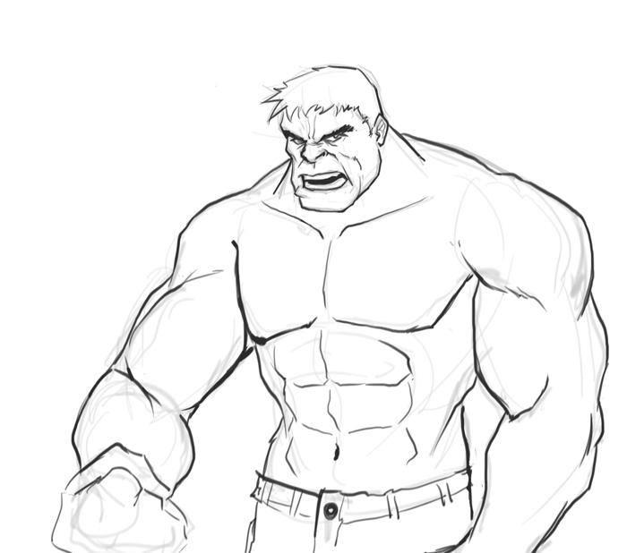 Drawn hulk Anatomy draw Hulk How Pinterest