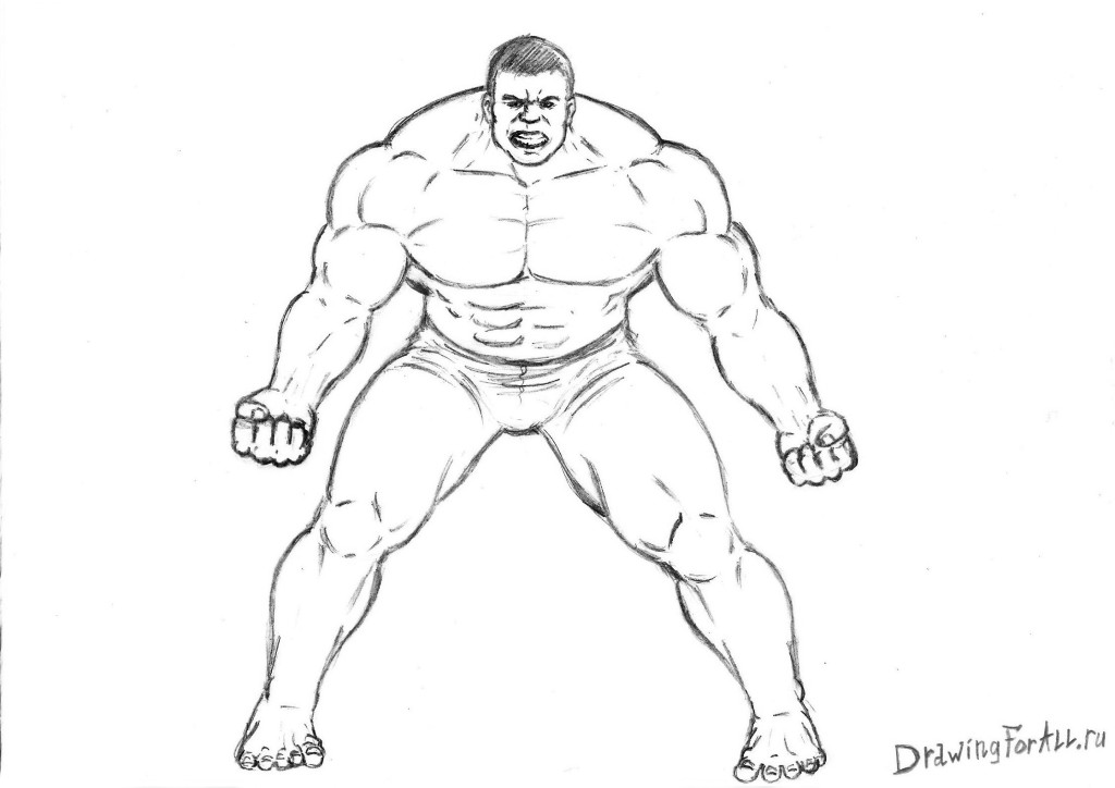 Drawn hulk Draw Avengers How How the
