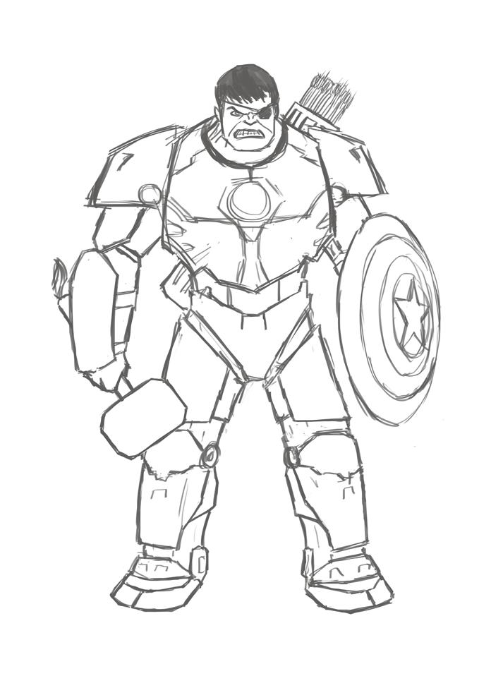Drawn hulk Doodles Composite Hulk2 – Oodles