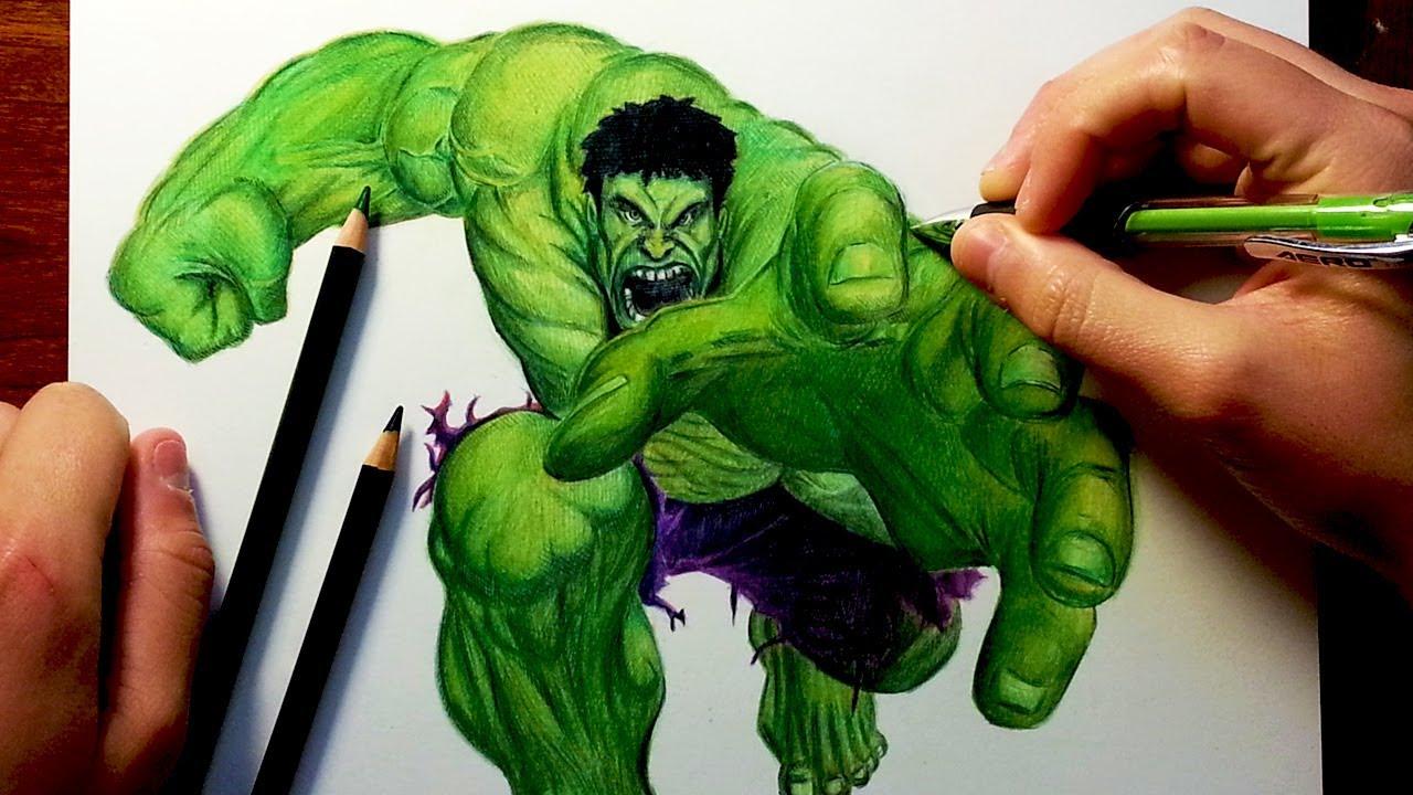 Drawn hulk & THE HULK THE After