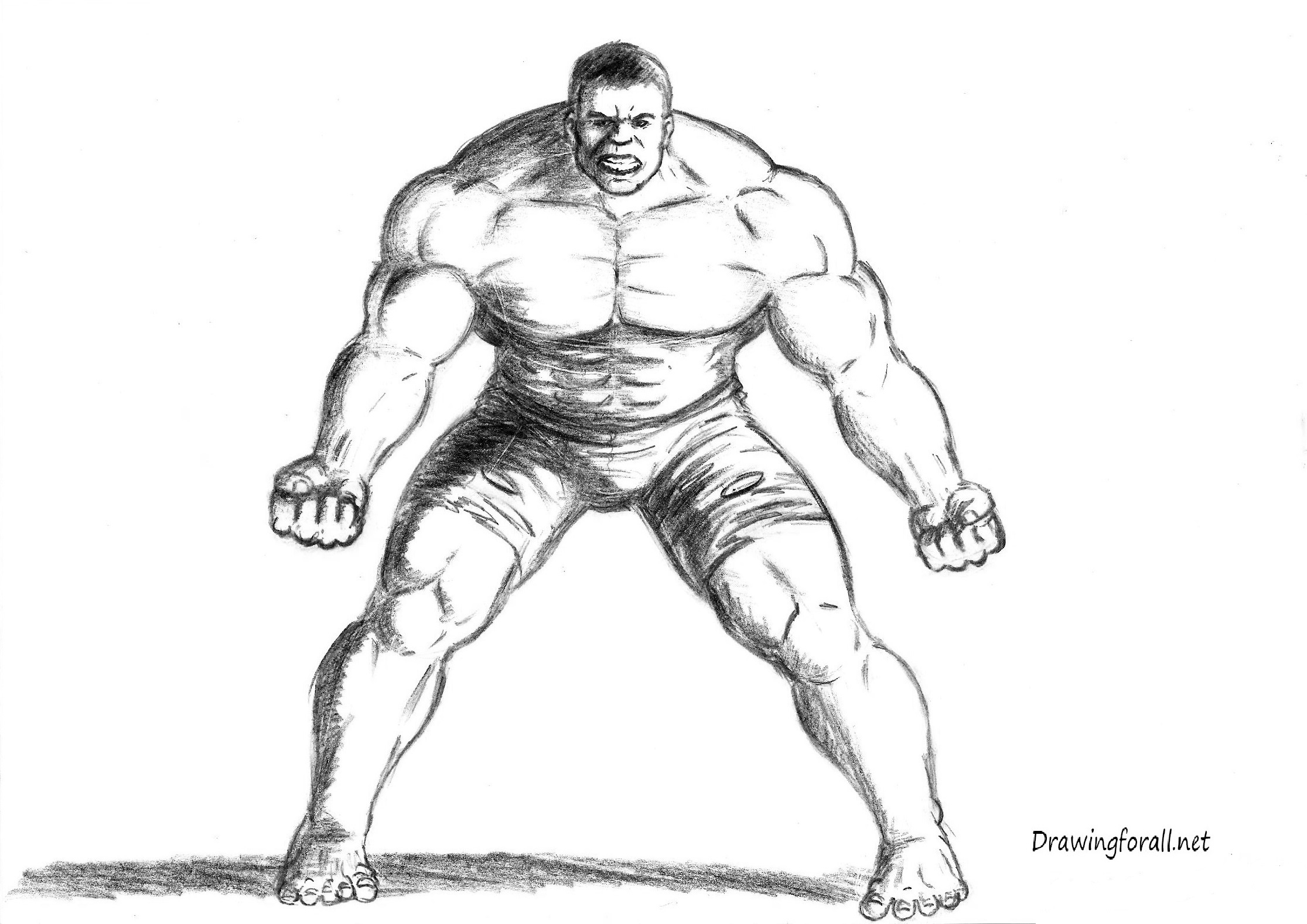 Drawn hulk The How to How Incredible