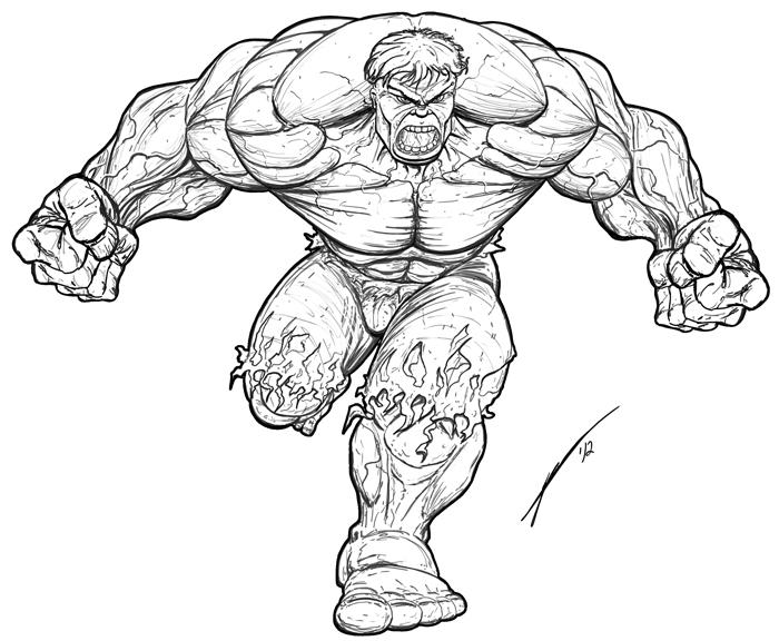 Drawn hulk HULK incredible on @deviantART Hulk