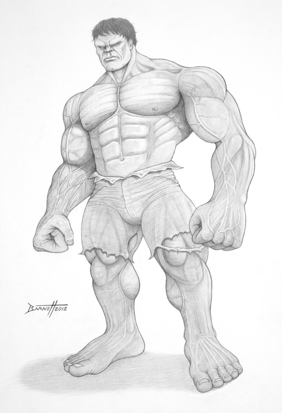 Drawn hulk Incredible by barneybluepants  Hulk