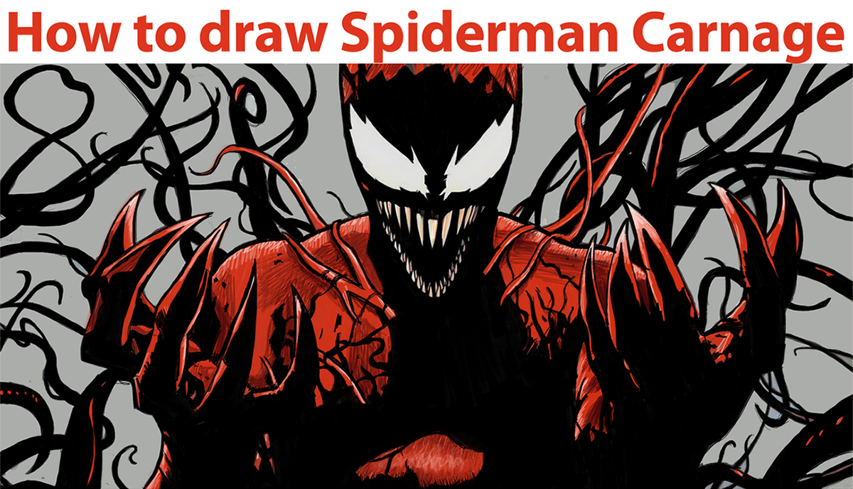 Drawn thor Drawing Spiderman By Step Draw How Carnage