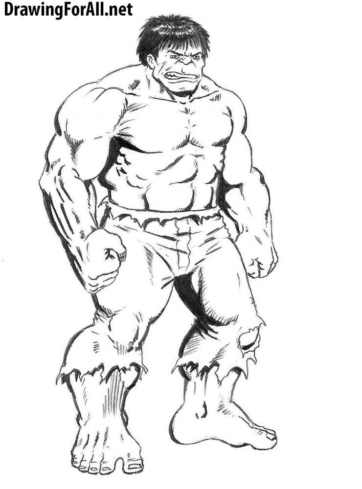Drawn amd hulk To how hulk DrawingForAll the