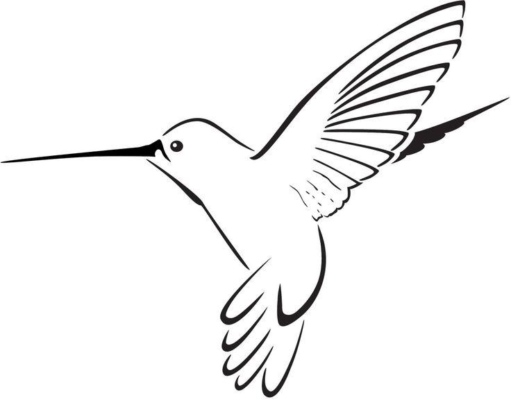 Drawn hummingbird black and white  Hummingbird Clipart Panda Clipart