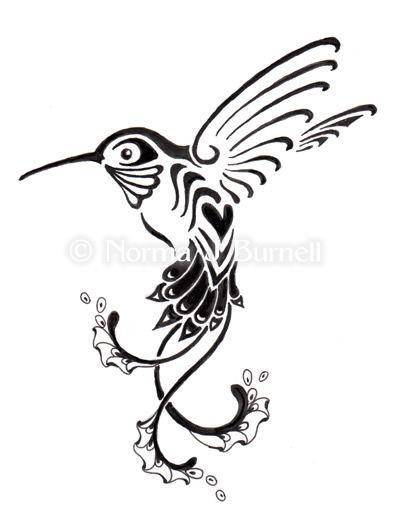 Drawn hummingbird black and white  Colour on Hummingbird Tattoo