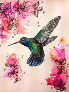 Drawn brds hummingbird And 00 tiny in print