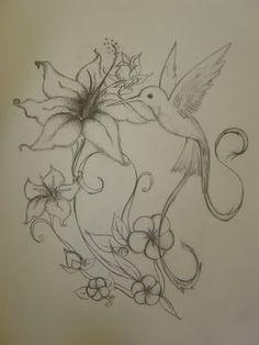 Drawn hummingbird hummingbird flower A of Stylized  other