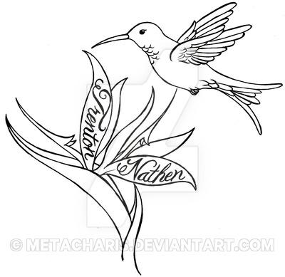 Drawn hummingbird hummingbird flower By Tattoo by and Metacharis
