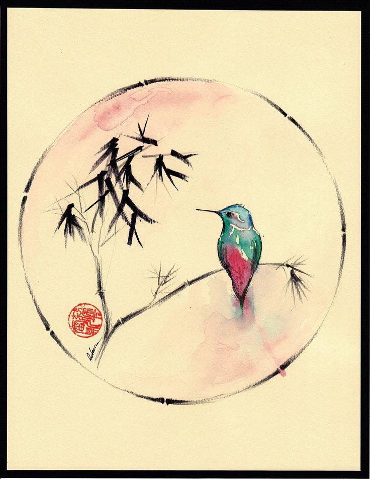 Drawn hummingbird japanese Hummingbird tattoo Google Search japanese