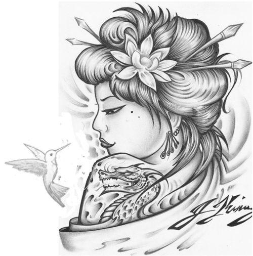 Drawn hummingbird japanese Tattoo Minus the ideas dragon