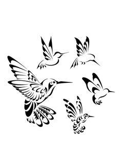 Drawn hummingbird japanese Tribals  More of images