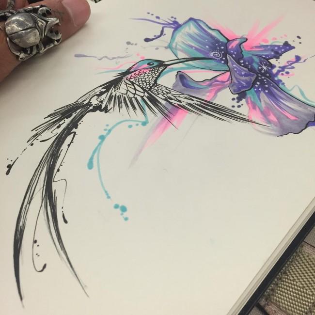 Drawn hummingbird japanese Tattoos hummingbird Hummingbird Stunning 80+