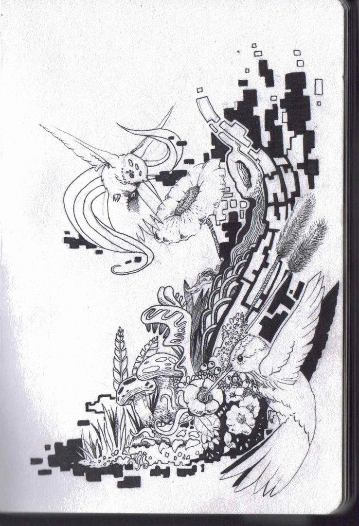 Drawn hummingbird zombie Hummingbirds Zombie by DeviantArt Fossy