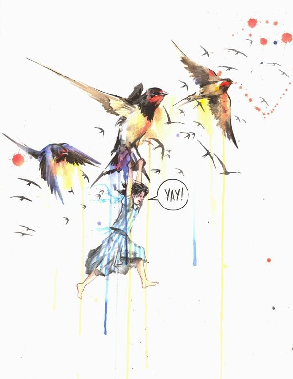 Drawn hummingbird zombie Mixed images Illustrations on Zombie