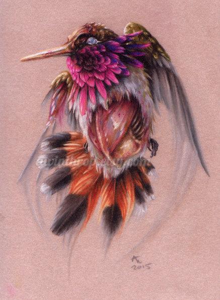 Drawn hummingbird zombie Zombie Zombie Matted Hummingbird