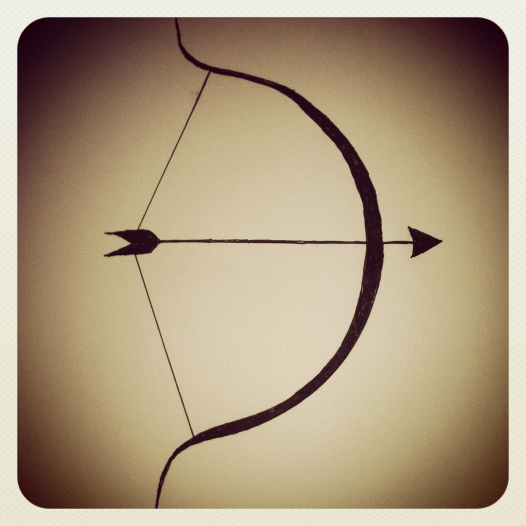 Drawn arrow hunting Bow  Tat arrow #33