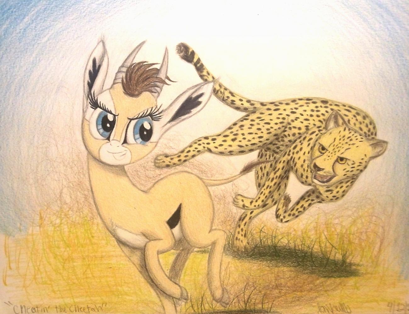 Drawn hunting cheetah The Cheetah Cheatin' Cheatin' by
