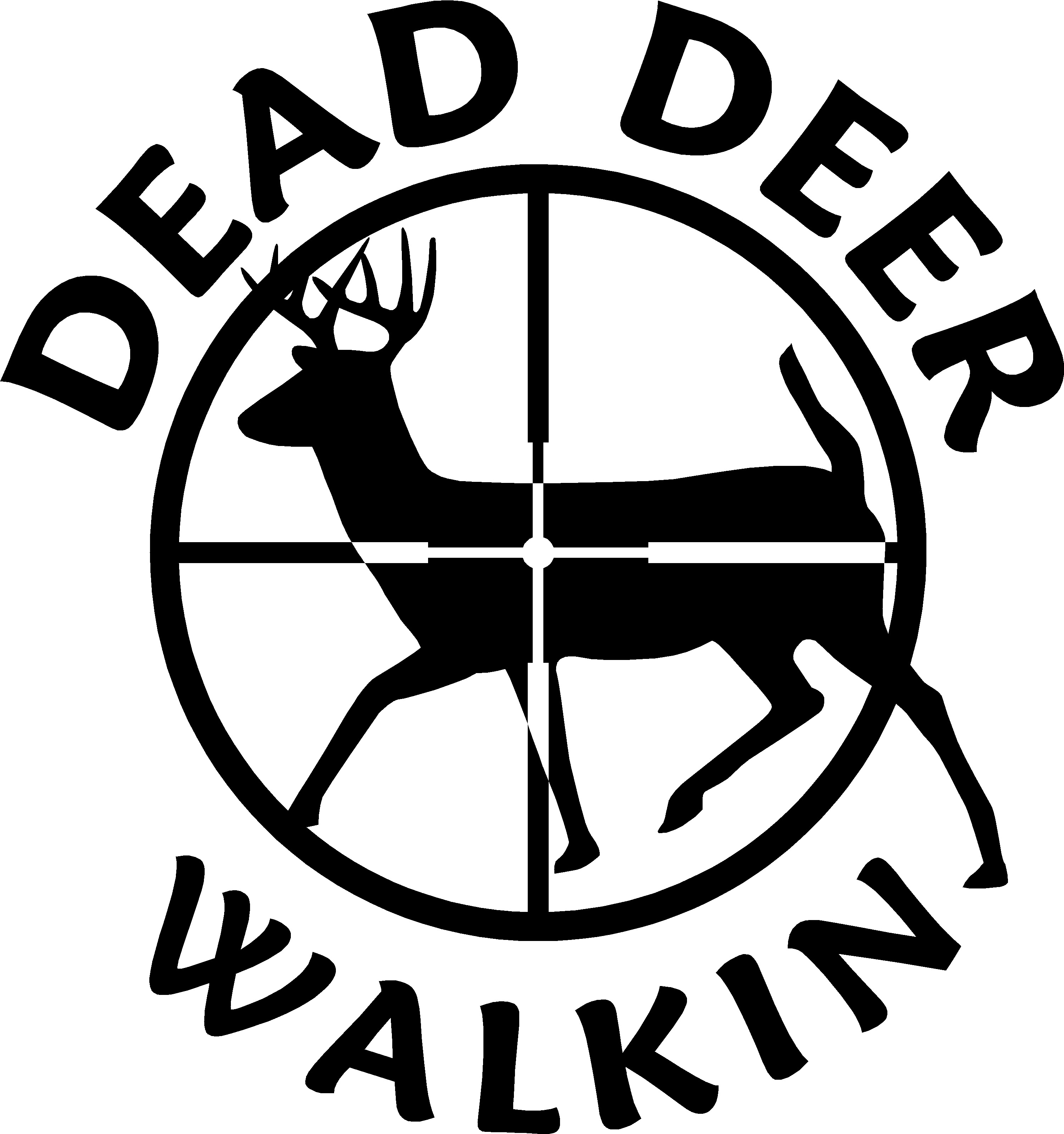 Drawn hunting deer logo Walkin Dead 15010 Decals and